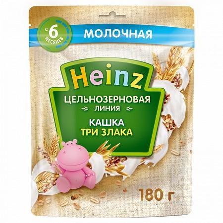 Каталог Кашка Хайнц цельнозерновая 3 злака с молоком 180гр 1/7 от магазина | Дискаунтер Больше Меньше
